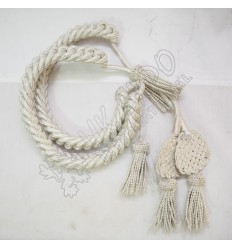 Shako cord white wool with square Russian braid