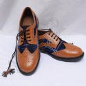 Hybrid Heritage Of Scotland Tartan Ghillie Brogues Shoes with Brown Color Leather