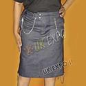 Ladies Blue Denim Jeans Kilts