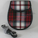 Sporrans Tartan with Leather Material