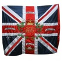 Double Embroidery with Single Cloth Flag