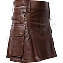 Ladies Leather and PVC Utility Kilts