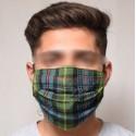 Tartan Pleat Mask